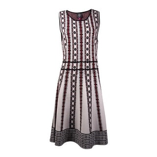 Vince Camuto Women's Tribal Sleeveless Sweater Dress (M, Red) - m