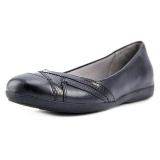 Life Stride Finale Women  Round Toe Synthetic Black Flats