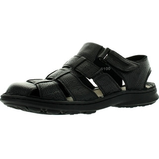 Rocus Mens 6100 Fisherman Covered Toe Comfort Walking Leather Sandals Shoes