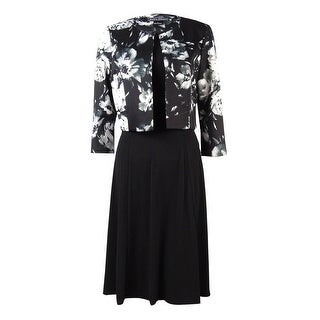Jessica Howard Women's Scuba Jacket & Dress - Black/multi - 6