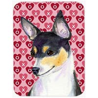 Chihuahua Hearts Love & Valentines Day Portrait Glass Cutting