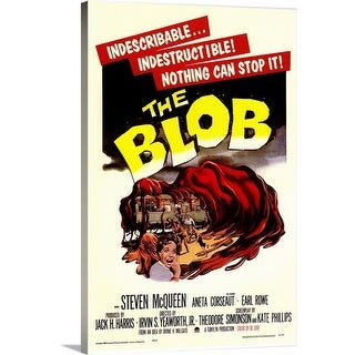 Premium Thick-Wrap Canvas entitled The Blob (1958) - Multi-color