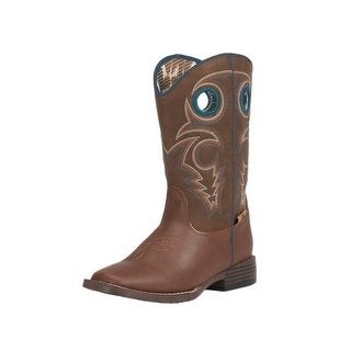 Double Barrel Western Boots Boys Kids Dylan Child Brown 4456232