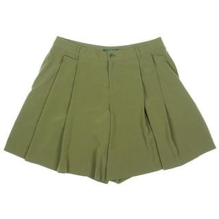 Lauren Ralph Lauren Womens Woven Double Pleat Dress Shorts