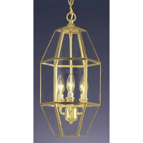 """Volume Lighting V5061 3 Light 18.5"""" Height 1 Tier Chandelier with Clear Bound In"""