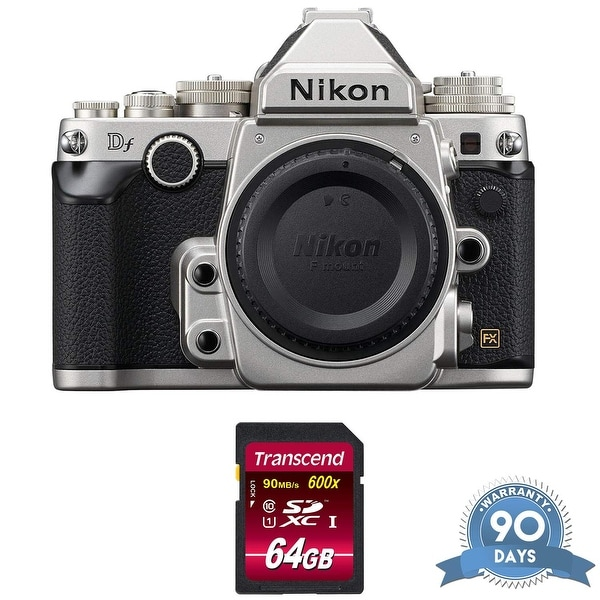 Nikon Df DSLR Camera (Body Only, Silver) with Memory Card - (Renewed). Opens flyout.