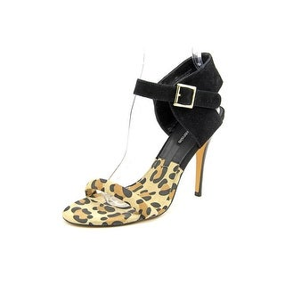 Kensie Ravette Women  Open Toe Suede Black Sandals