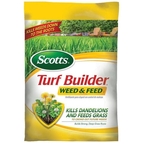 Scotts 25006A Turf Builder Weed & Feed Fertilizer, 14.56 lbs