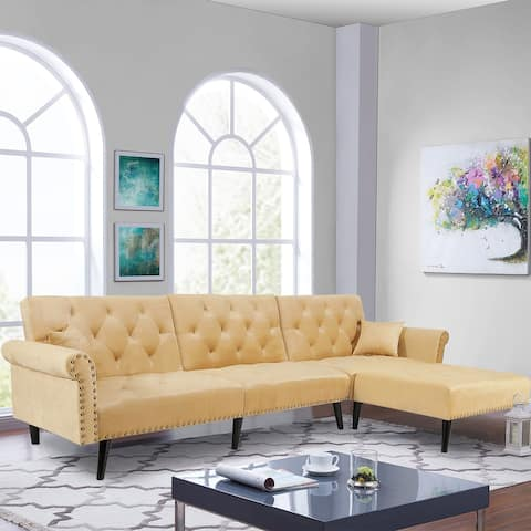 Reversible Sectional Sofa Sleeper