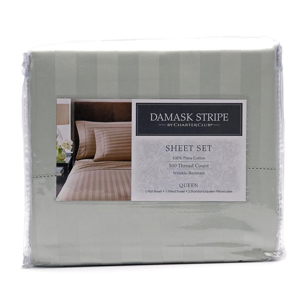 Charter Club Damask Stripe Sheet Set 4 Piece Overstock 15360870