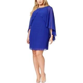 SL Fashions Womens Cocktail Dress Chiffon sheer - 14W