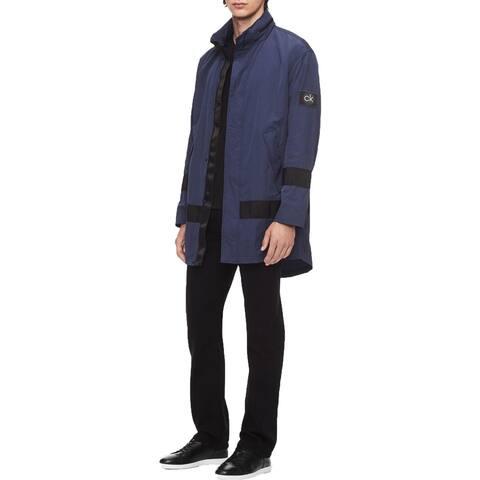 Calvin Klein Mens Raincoat Lightweight Long