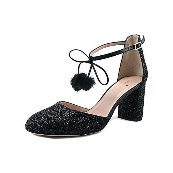 Kate Spade Womens Abigail Block Heels Glitter Pom
