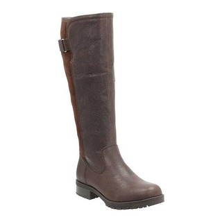 Shop Clarks Women s Faralyn May Waterproof Knee High Boot Dark Brown Goat  Full Grain Leather - On Sale - Free Shipping Today - Overstock - 22879522 347f0a1ebadb