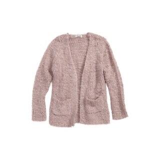 Woven Heart Girls Medium Open-Stitch Cardigan Sweater