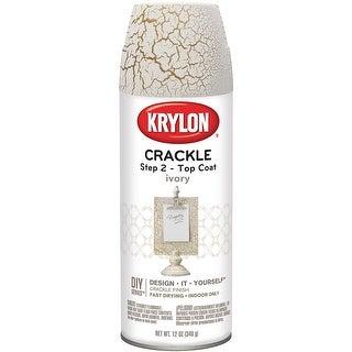 Crackle Spray Top Coat 11Oz-Ivory