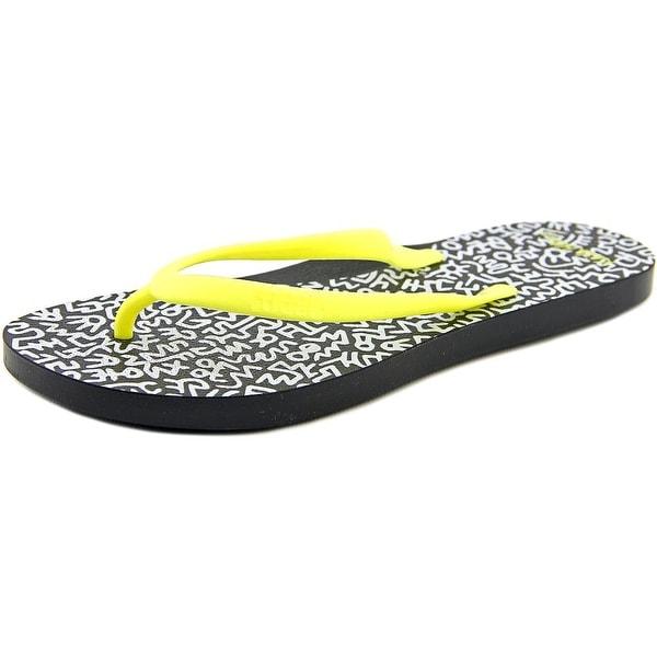 Tidal Etch Women Black/Yellow Sandals