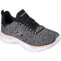 Skechers Women's Dynamight Break-Through Bungee Lace Sneaker Black/Coral