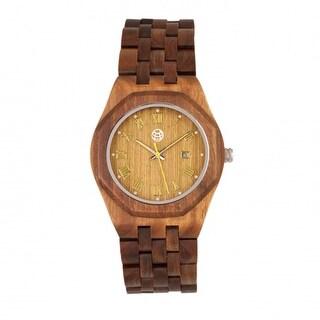 Earth Wood Baobab Men's Quartz Watch, Wood Band