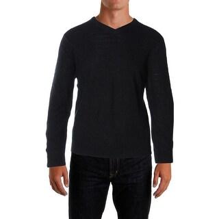 Perry Ellis Mens Pullover Sweater Knit Loop Pattern