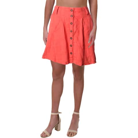 Free People Womens Daze Away Skort Linen Mini