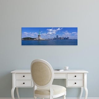 Easy Art Prints Panoramic Images's 'USA, New York, Statue of Liberty' Premium Canvas Art