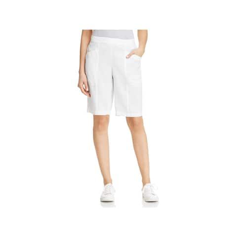 Eileen Fisher Womens Bermuda Shorts Organic Linen Sheer - XL