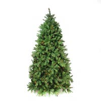 7.5' Pre-Lit Noble Fir Full Artificial Christmas Tree - Multi-Color Lights - green