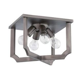 Craftmade 37384 Lisbon 4 Light Flush Mount Ceiling Fixture - Antique Nickel