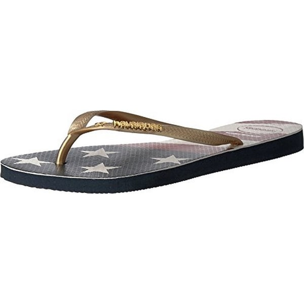 4ff134a25fb810 Havaianas Womens Slim Wavy Usa Flag Sandal