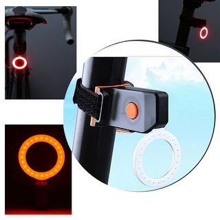 USB Rechargeable Waterproof Circle Bike Rear Tail Light Headlight Safety Bike Cycling Lights Ultra Bright