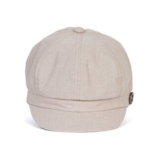 Womens Cabbie Hat w/ Button Pin