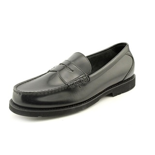 Rockport Shakespeare Circle Men Moc Toe Leather Black Loafer