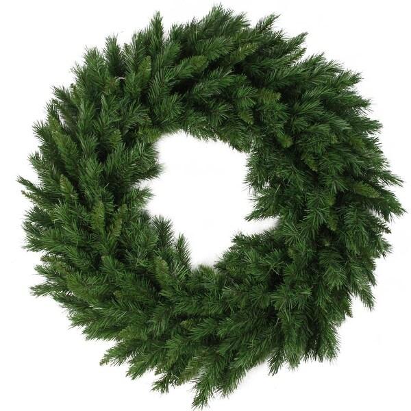 "24"" Lush Mixed Pine Artificial Christmas Wreath - Unlit - green"