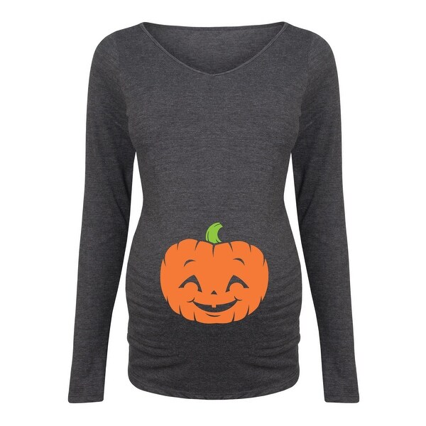 ce1eae8a9ab02 Shop Pumpkin - Maternity Long Sleeve Tee - Free Shipping On Orders Over $45  - Overstock - 23466579