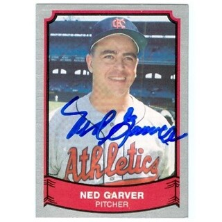 Ned Garver Autographed Baseball Card Kansas City A 1989 Pacific
