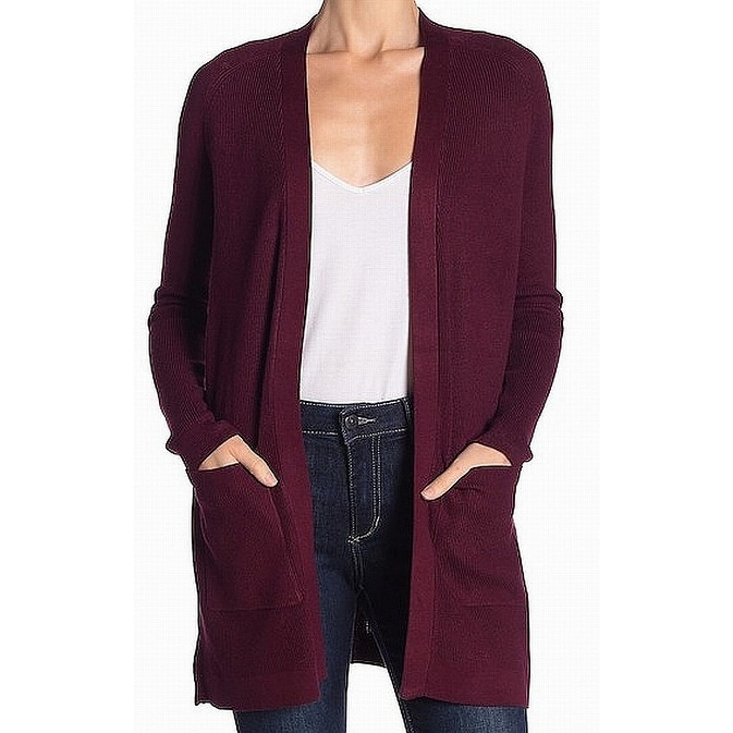 Interpretive fascino tubo  Shop Devotion By Cyrus Burgundy Red Womens Size Large L Cardigan Sweater -  Overstock - 27491180