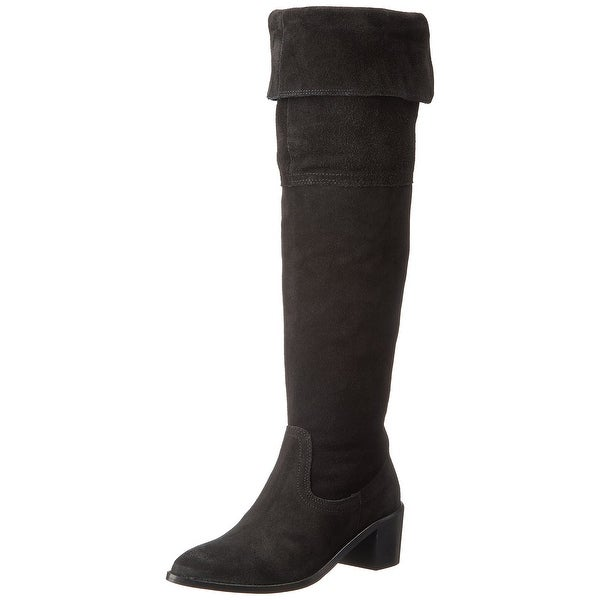 Report Signature NEW Black Shoes Size 9M Knee-High Leather Boots