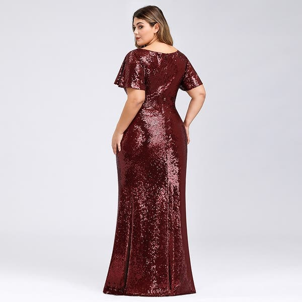 Shop Ever-Pretty Womens Plus Size Sequin Bodycon Evening ...