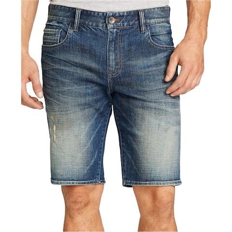 William Rast Mens Faded Casual Denim Shorts - 36