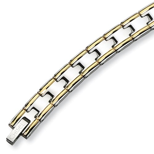 Chisel Gold-Plated Polished Stainless Steel Bracelet - 8.5 Inches