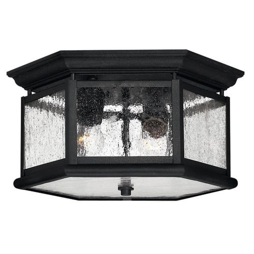 Hinkley Lighting H1683 2 Light Outdoor Flush Mount Ceiling Fixture from the Edgewater Collection