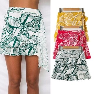 Link to Flounce Tie V-Neck Skirt Similar Items in Skirts