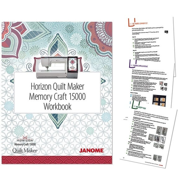 Shop Janome Horizon Quilt Maker Mc15000 Workbook Full