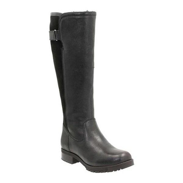 2fc27eb4e23 Clarks Women  x27 s Faralyn May Waterproof Knee High Boot Black Waterproof  Goat Full