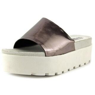 Steve Madden Check It Open Toe Synthetic Wedge Sandal