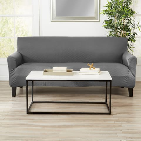Great Bay Home Textured Stretch Sofa Slipcover