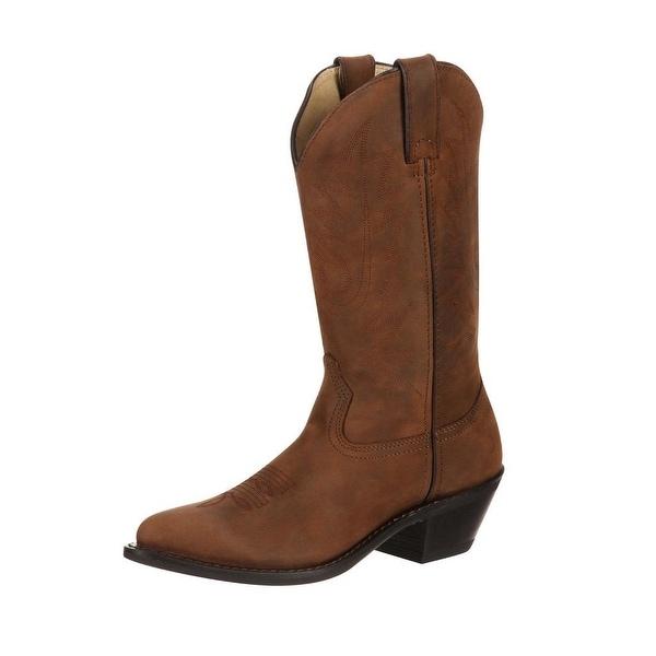 "Durango Western Boots Womens 11"" J Toe Classic Leather Tan"