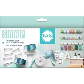 Snap Storage Ribbon Clips 6/Pkg-Large