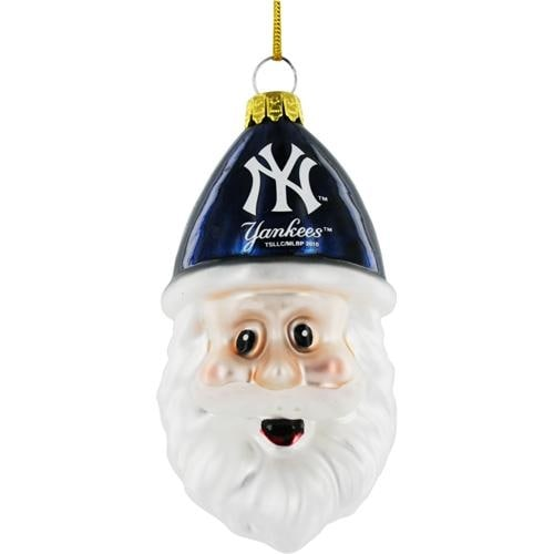 c335848e515 Shop New York Yankees Blown Glass Santa Cap Christmas Tree Ornament - Free  Shipping On Orders Over  45 - Overstock - 18681177